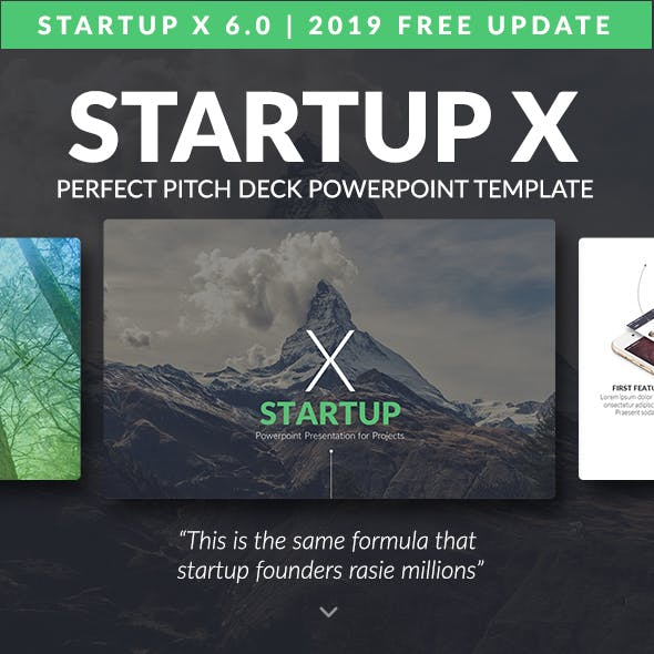 Startup X The Perfect Pitch Deck Powerpoint Template