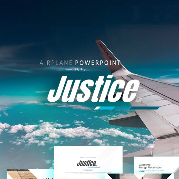 Justice Airplane / Aircraft / Aviation Powerpoint Template